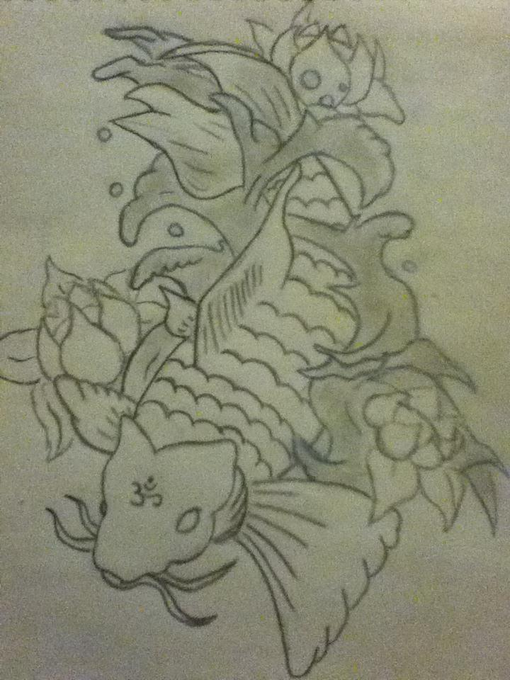 Old koi fish drawing by adamdarklordjones on deviantart for Oldest koi fish
