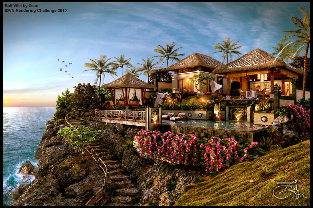 Bali villa by artzen03 on deviantart for Cheap hotels in bali
