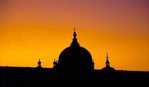 Sunset on the Hotel Dieu by Simounet