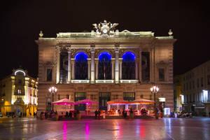 Montpellier - Place de l'Opera by night