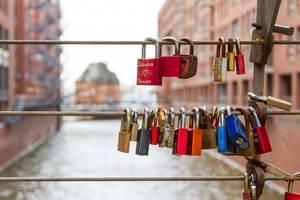 Hamburg love lock