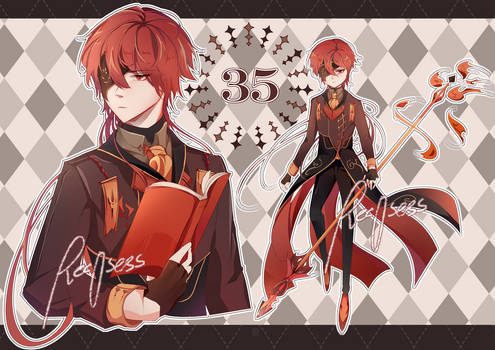 ADOPTABLE| Red Lancer [CLOSED]