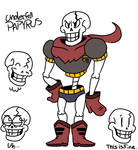 If I made Underfell Papyrus