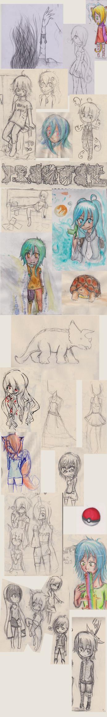 Doodle dump #1 by Kaeradia