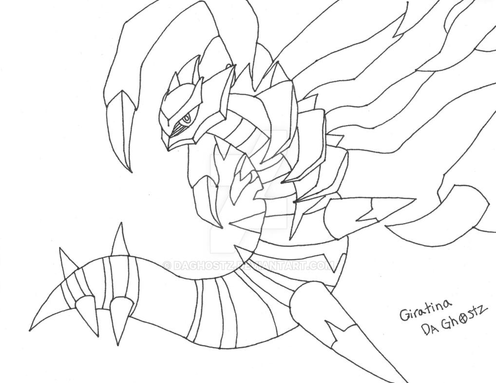 coloring pages giratina - photo#20