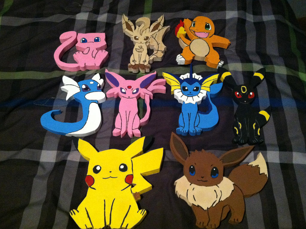 Pokemon Wooden Figures by daghostz