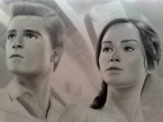 Katniss and Peeta by DavidSRB117