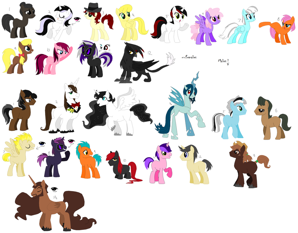 Free Adoptables batch 27 by Kitty-of-Doom524