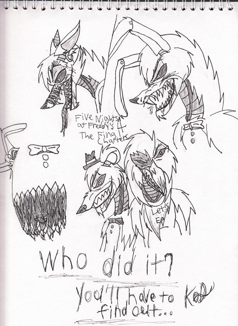 Five Nights at Freddy's 4 sketch by Kitty-of-Doom524