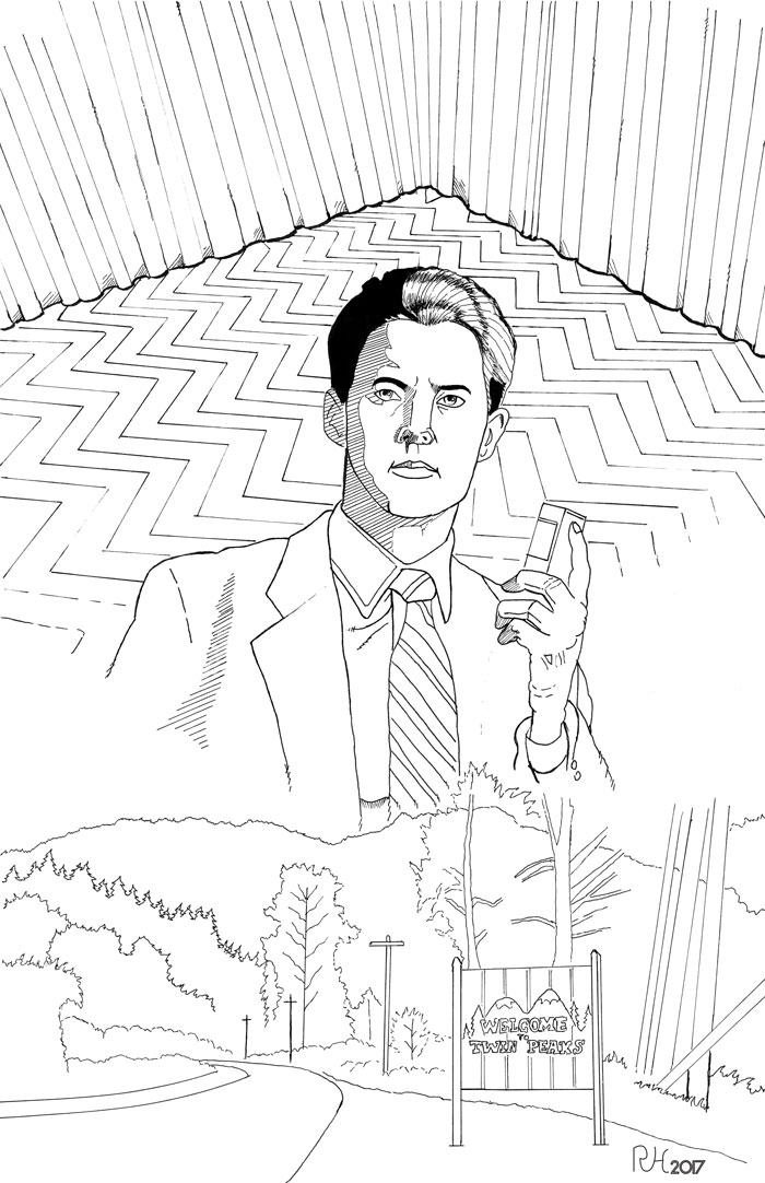 Special Agent Dale Cooper - inks by roryherman