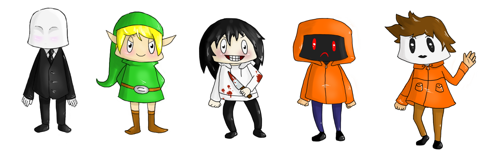 creepy pasta chibis by bellpup