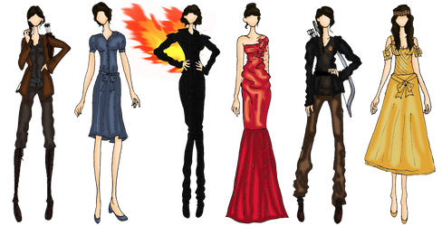 Hunger Games-Katniss Outfits-Movie Version