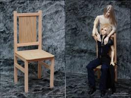 A chair for SD BJD dolls by scargeear