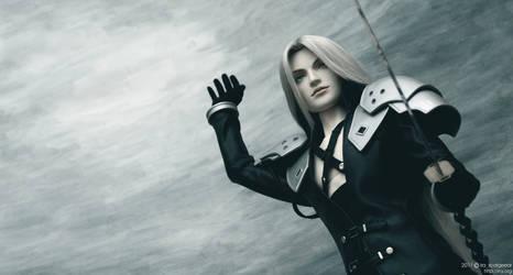 Sephiroth: The final battle 01 by scargeear