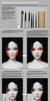 Brushes for BJD faceup tutorial