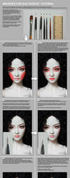 Brushes for BJD faceup tutorial by scargeear