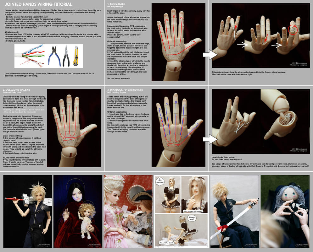 Wiring jointed hands tutorial by scargeear on DeviantArt