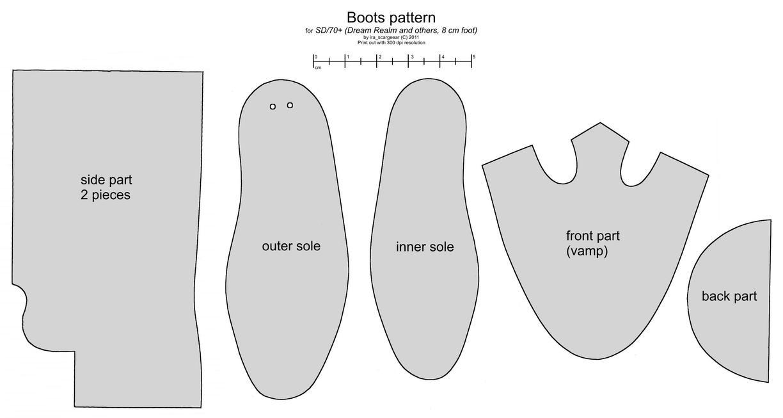 Как сшить ботинки своими руками выкройки 49