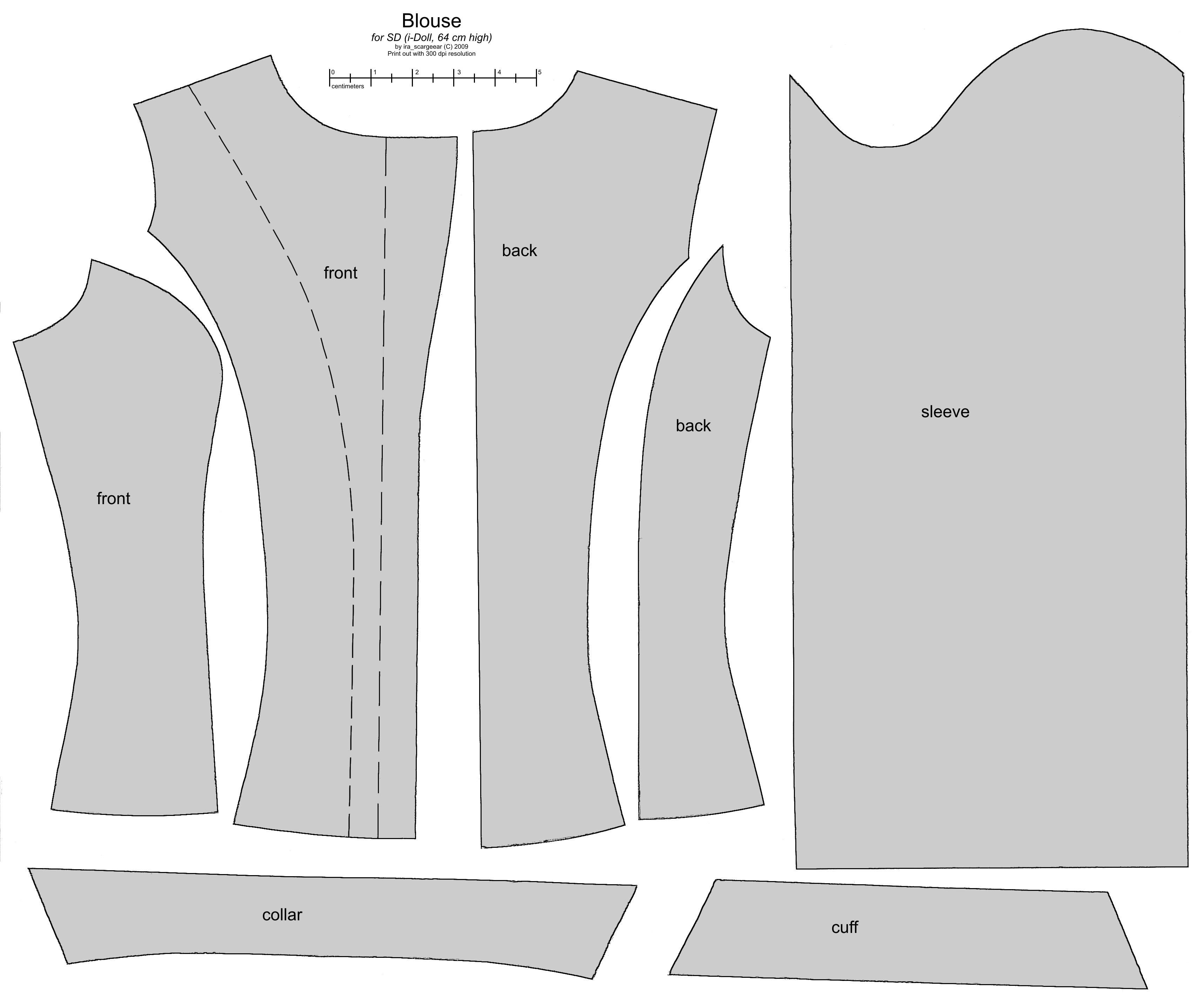SD BJD (i-Doll) female blouse by scargeear