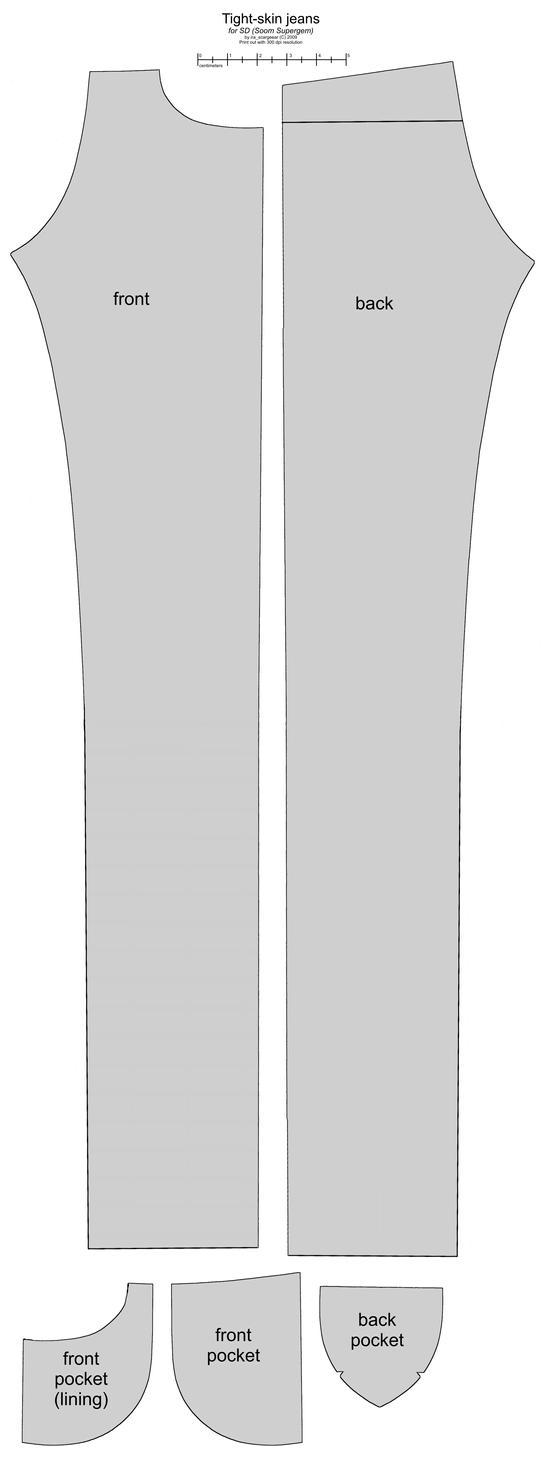SD BJD (Soom Supergem) male jeans by scargeear