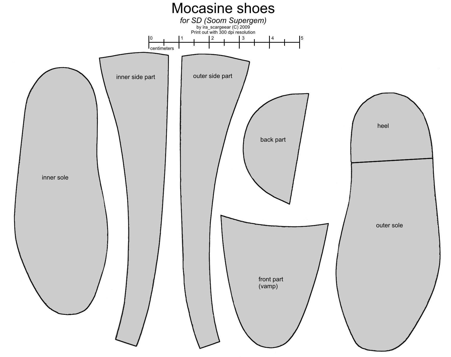 SD BJD (Soom Supergem) mocasines by scargeear