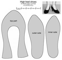 SD female high heel shoes by scargeear