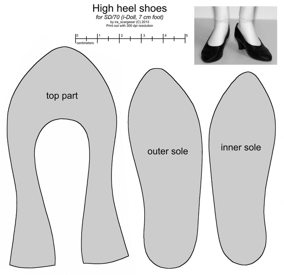 Sd female high heel shoes by scargeear on deviantart for High heel shoe design template