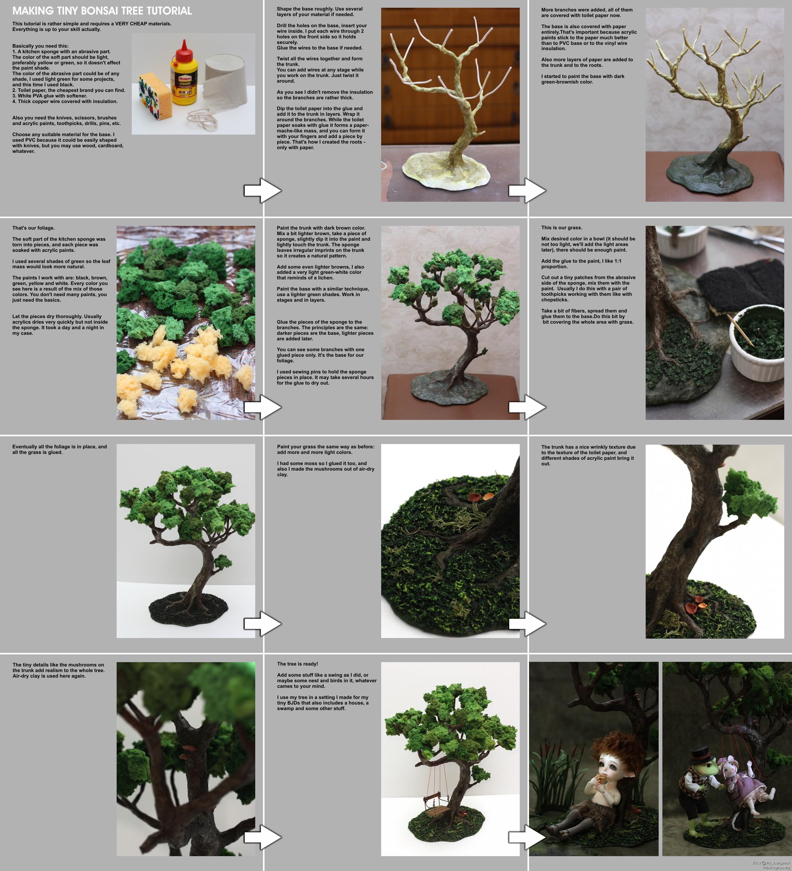 Making Tiny Bonsai Tree Tutorial By Scargeear On Deviantart