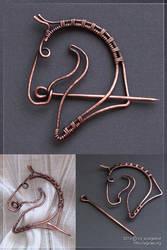 Horse brooch by scargeear