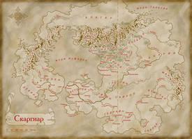 The dawn above Scargeear - map