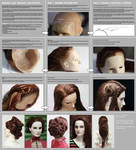 Making lace realistic wig for BJD