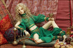 Raoul in a green harem outfit by scargeear