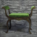 Banquette for BJDs by scargeear