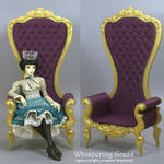 BJD Rococo High Throne Armchair