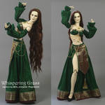 Green and Golden BJD Arabian/Harem Outfit