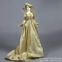 Creamy White Renaissance dress by scargeear