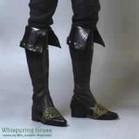 BJD Vampire Hunter boots by scargeear