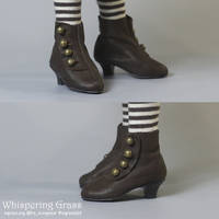 BJD MSD Victorian shoes by scargeear
