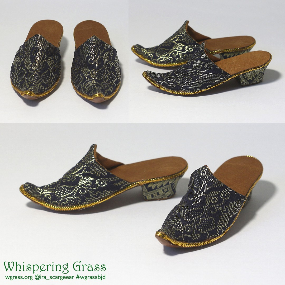 BJD female heeled slippers by scargeear