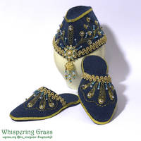 BJD harem jutti slippers and hat by scargeear