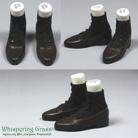 BJD Chocolate Brown Victorian shoes by scargeear