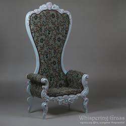 Shabby Blue Rococo Armchair