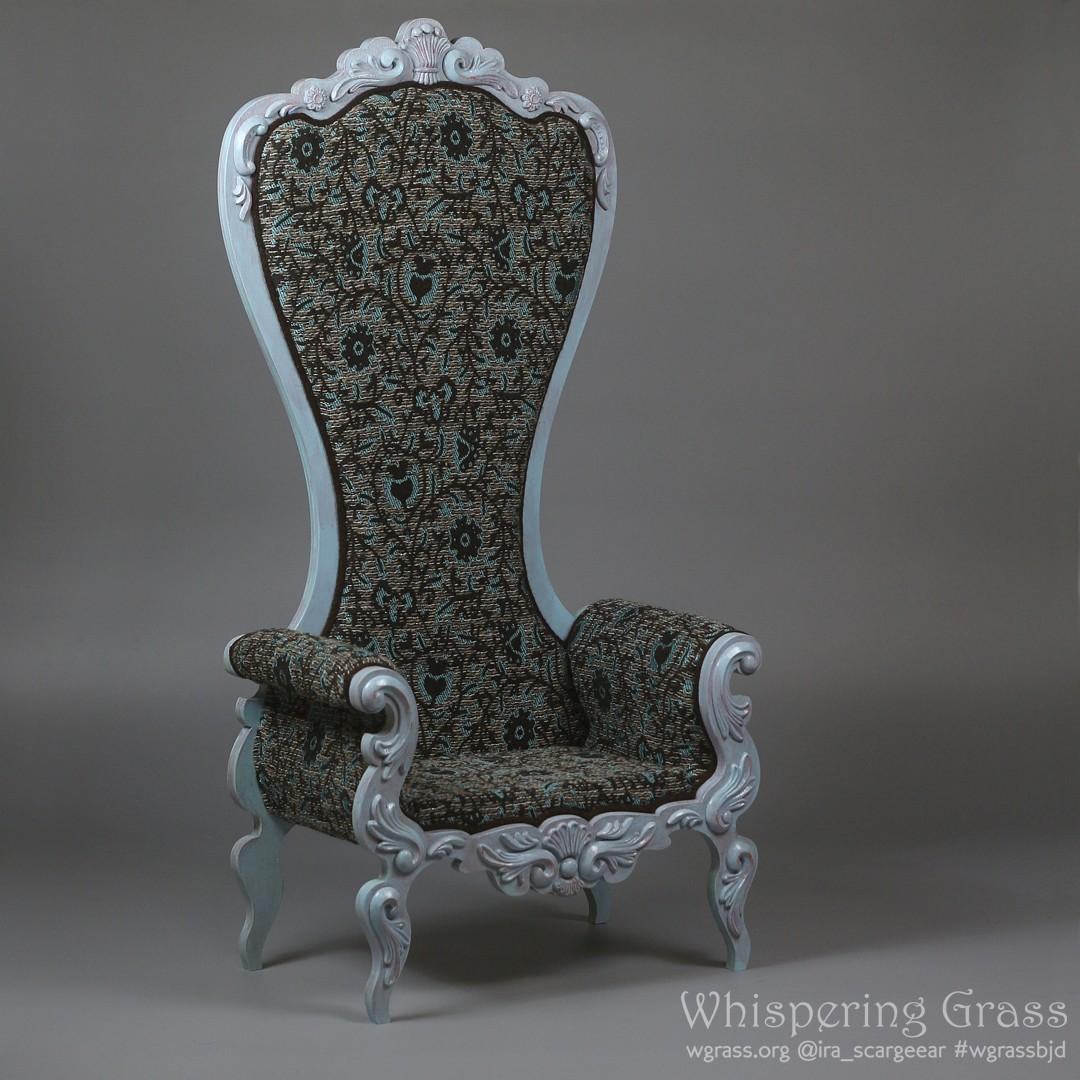 Shabby Blue Rococo Armchair by scargeear