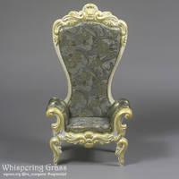 Rococo BJD armchair for MSD dolls by scargeear