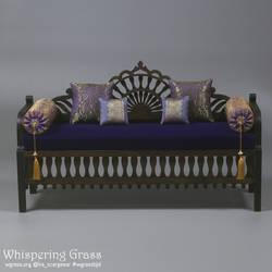 Moroccan sofa 1/4, 42 cm long.