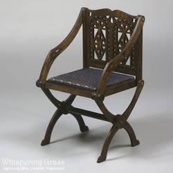Foldable Glastonbery Medieval Armchair