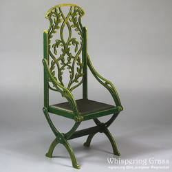 Foldable Elven Floral Willow Throne