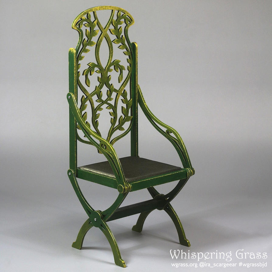 Foldable Elven Floral Willow Throne by scargeear