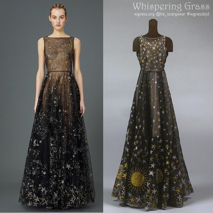 Valentino Black Star Chiffon Dress by scargeear on DeviantArt