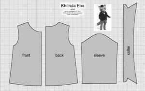 Khitrula Fox Shirt Pattern by scargeear